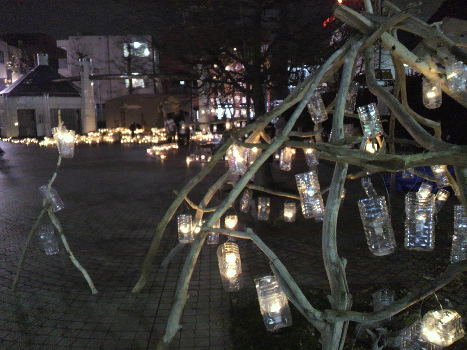 柴崎中央公園のキャンドル